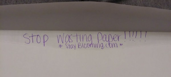 stop wasting paper