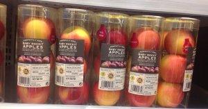apples pointless plastic